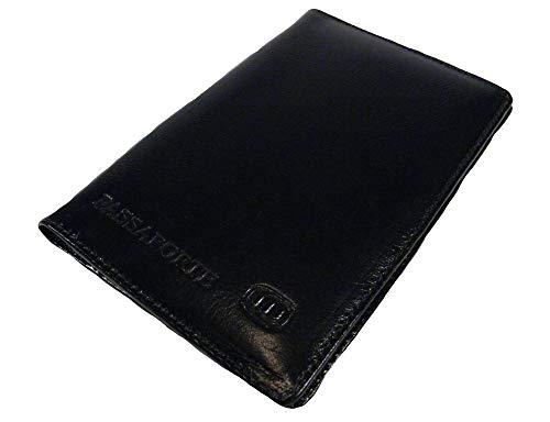 Porta Passaporte em Couro 830SF - Preto