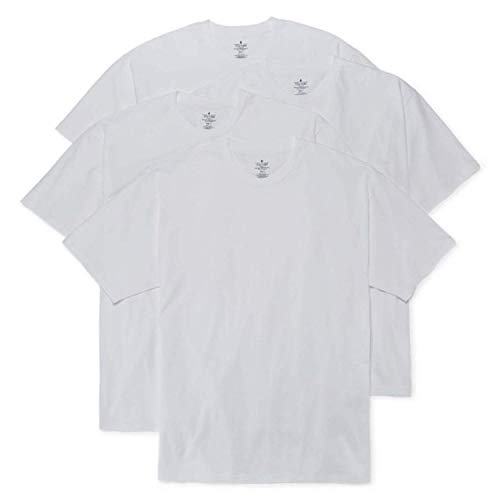 Stafford Blended Cotton White Crew Neck Shirts 3-Pack (Small)