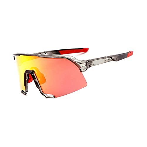 YSPS Gafas de Sol Deportivas polarizadas Gafas de Ciclismo con 3 Lentes Intercambiables, Gafas de Ciclismo para Mujer para Hombre, béisbol Correr Esquiador de Pesca Gafas D