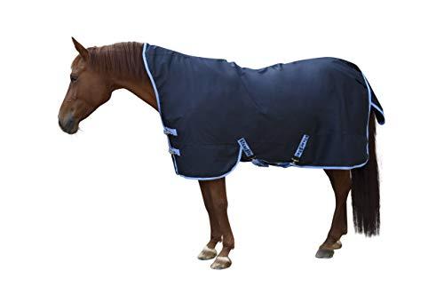 Covalliero Kerbl Outdoordecke RugBe Protect Highneck blau/hellblau Pferdedecke Halsansatz (155)