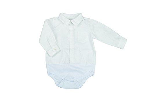 BabyVip - Body para niño y niña, Estilo Abotonado, 100% algodón, Tejido Acanalado - Blanco - 6-9 Meses