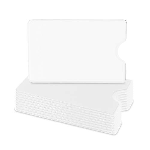 kwmobile 10x Funda protectora tarjeta de crédito y débito - Set de cubiertas de protección para tarjetas - Tarjetero individual - En blanco