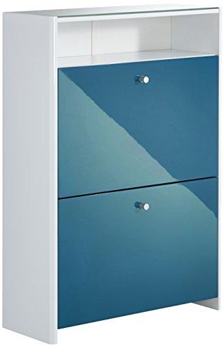 PHOENIX 728850AQ - Zapatero (Madera, 24 x 63 x 112,5 cm), Color Azul