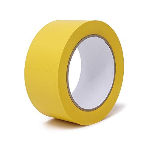 gws Putzband PVC gerippt Abklebeband von Hand reißbar | Maler-Schutzband in Profi-Qualität | versch. Farben & Breiten | Länge: 33 m (1 Rolle - 50 mm breit - gelb gerippt)
