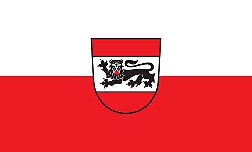Unbekannt magFlags Tisch-Fahne/Tisch-Flagge: Eberhardzell 15x25cm inkl. Tisch-Ständer
