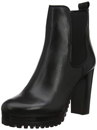 Tommy Hilfiger Damen PIN Logo Heeled Chelsea Boot Stiefeletten, Schwarz (Black Bds), 41 EU