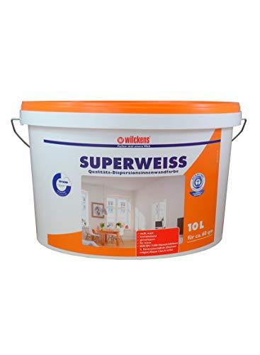 Innenfarbe Superweiss 10 Liter Wilckens hohe Deckkraft Farbe weiss weiß Profi Farben Innenraum