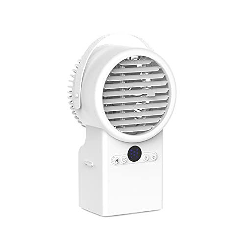 Condizionatore d'Aria Mobile, Condizionatore d'Aria, Umidificatore, Ventilatore, Luce Notturna a 7 Colori, Regolabile in 3 Direzioni, per Cucina, Camera da Letto, Soggiorno,White