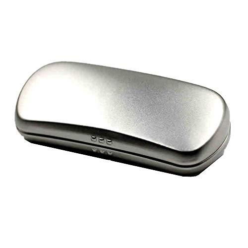 HO-TBO Eyewear Aufbewahrungsbox, Glasees Case Leichte Brille Fall Brille Compact Aluminium Brille Schutzhüllen Finden und lagern Sie Ihre Brille ganz einfach (Color : Silver, Size : 16X3.8X7CM)