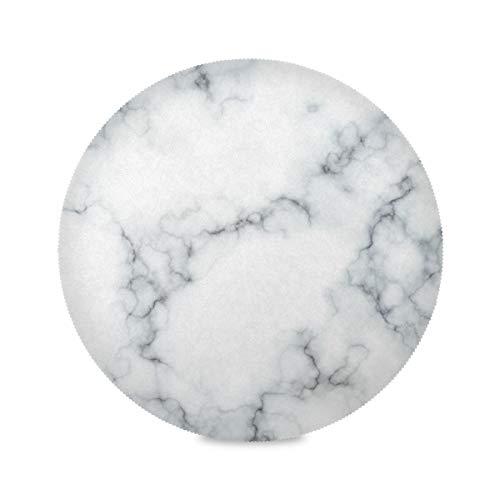 JUMBEAR Sets de table ronds en texture marbre, antidérapants, lavables, résistants à la chaleur, imperméables, pour cuisine, salle à manger, table basse 39,1 cm (1 pièce)