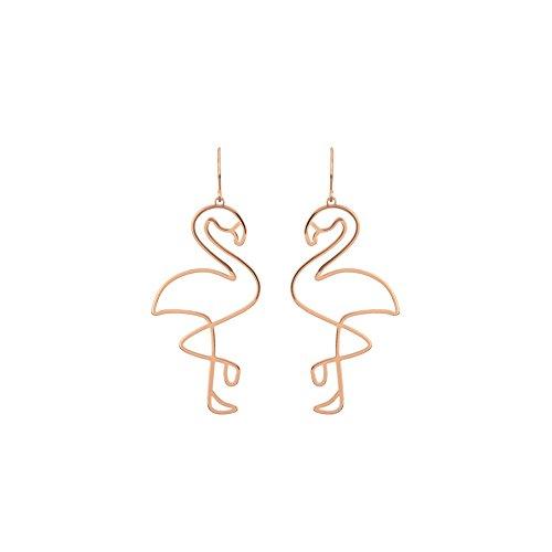 Joyfeel buy Arete Hueco Pendientes de Temperamento Pendientes de Mujer con flamencos Dorado (1 par)