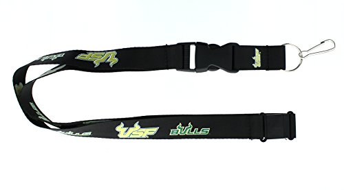 aminco NCAA South Florida Bulls Team Lanyard Black, 24 Inch