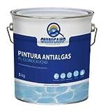 QUIMICAMP Pintura antialgas al clorocaucho Azul. 5 Kilos