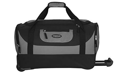 Travelers Club Luggage Adventure 20' Multi-Pocket Sports, Gray, 20 Inch 46.2L