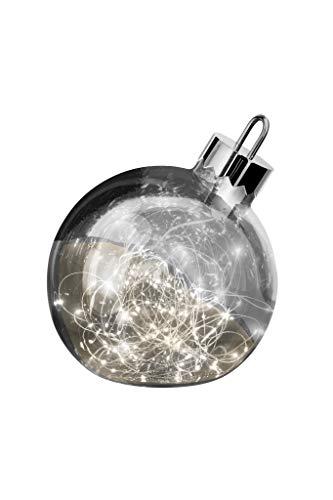 sompex LED Dekoleuchte Ornament | Große Weihnachtskugel mit Beleuchtung | Dekoelement Fußboden, Farbe:Smoke, Durchmesser:Ø 30 cm