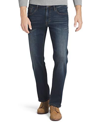 IZOD Men's Comfort Stretch Straight Fit Jean, Soft Blue, 34x30