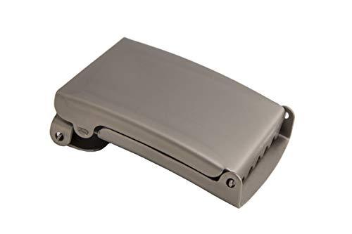 shenky hochwertige Schnalle für Stoffgürtel und Militärgürtel mit 4cm Breite (Matt)