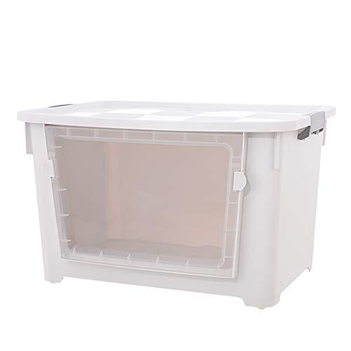 QARYYQ grote stapel- en trui top boxen wasmand (kleur: wit, maat: 100l)