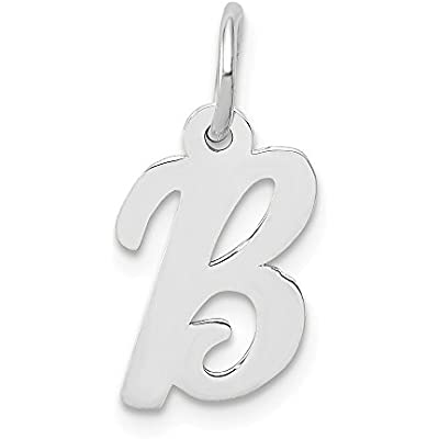 14k White Gold Initial Monogram Name Letter C Pendant Charm Necklace Fine Jewelry Gifts For Women For Her