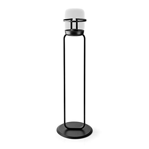 Nedis - Soporte para Altavoces - Apple HomePod - Máx. 3 kg - Sólido - Montaje fácil y Sencillo - para Altavoces pequeños - Acabado en Polvo - Negro - Metal/Acero
