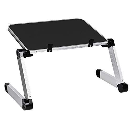 WJY De aleación de aluminio portátil plegable ajustable portátil de escritorio de ordenador portátil mesa de ordenador soporte bandeja de ordenador portátil de vuelta de PC plegable mesa de escritorio