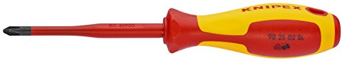 KNIPEX Schraubendreher (Slim) für Kreuzschlitzschrauben Pozidriv 1000V-isoliert (187 mm) 98 25 01 SL