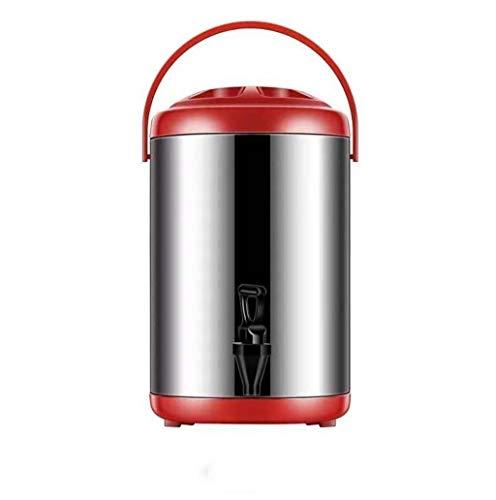 WWWANG Cubos de aislamiento comercial de gran capacidad de doble capa de acero inoxidable cubos de aislamiento frío jugo de bebida de café grano de leche té con leche cubos de té 8L caliente y fría, 1