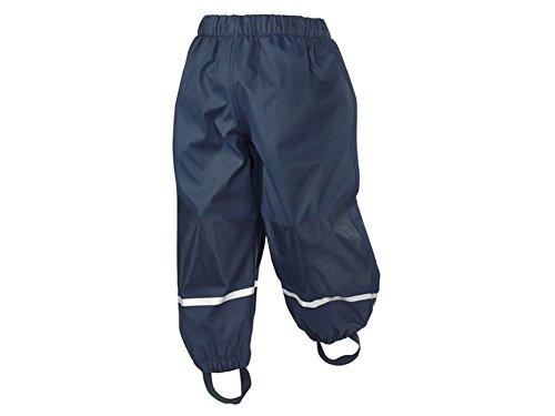 Kleinkinder Jungen Matsch und Buddelhose Regenhose dunkelblau (98/104)