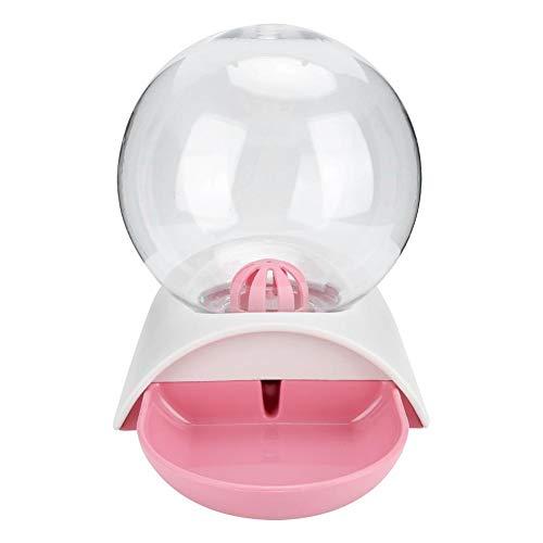 GOTOTOP Katzenbrunnen, Plastikblase Haustiere Wasserfütterungsschüssel Automatischer Wasserspender mit hoher Kapazität für Hundekatze(Rosa)