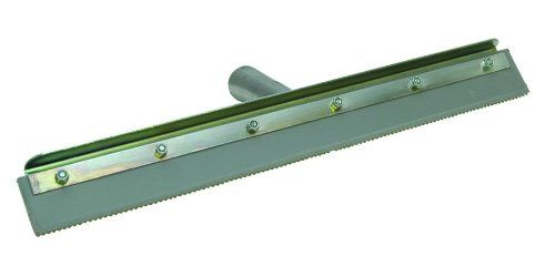 Concrete Notched Squeegee 24' Straight With Frame 1/4' Notch
