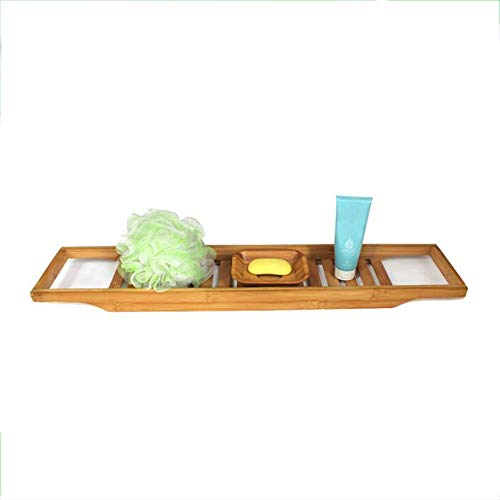Badewanne caddy HAIZHEN, Badewanne aus Bambus mit langem Lattenrost und Caddy Large 26,3