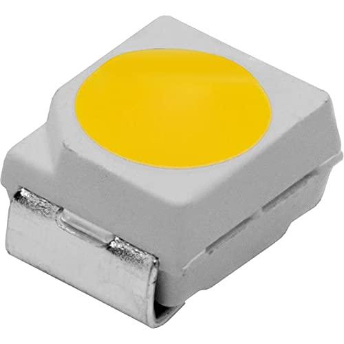50x LEDs superbrillantes SMD 3528 Blanco frío 6000K 20mA 3,2V 1700.2200mcd 120° 3,5x2,8mm PLCC2