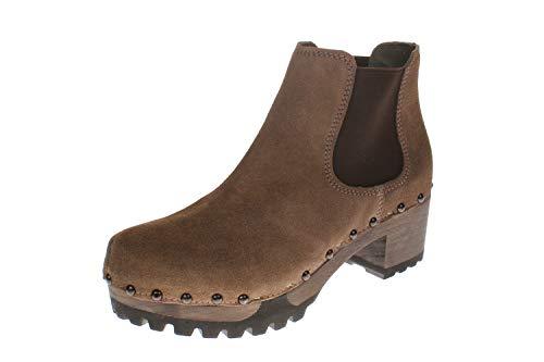 Softclox S3358 Isabelle Kaschmir - Damen Schuhe Stiefel - 30-Dark-Taupe, Größe:39 EU