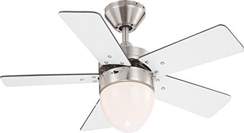 Deckenventilator Ventilator mit Zugschalter und Beleuchtung Globo Marva 0332