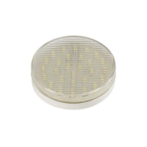 SLV LED GX53 Leuchtmittel, 7,6cm Ø, 3 Watt, 3000 Kelvin (warmweiß), 250 Lumen Lichtstrom, nicht dimmbar, äußerst sparsame LED-Lampe mit und 3 kWh Energieverbrauch, 25.000 h Lebensdauer
