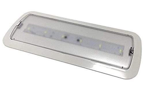 (LA) feux de détresse LED encastrable/Surface 3 W, vale pour les deux. avec 200 lumens, 3 heures d'autonomie Blanc froid 6000 K – 200 Lumene . résistant au FEU IP20