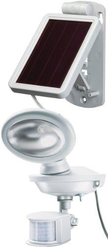 Brennenstuhl LED Solarleuchte mit Bewegungsmelder / Außenleuchten mit Solarpanel und Infrarot Bewegungsmelder (inkl. Dämmerungssensor) Farbe: weiß