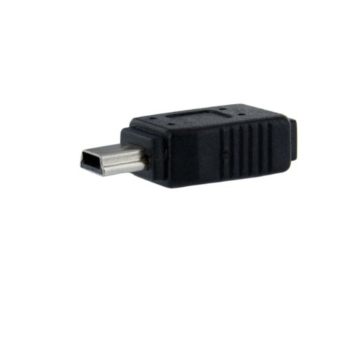 Startech UUSBMUSBFM - Adaptador Micro USB a Mini USB 2.0, Negro