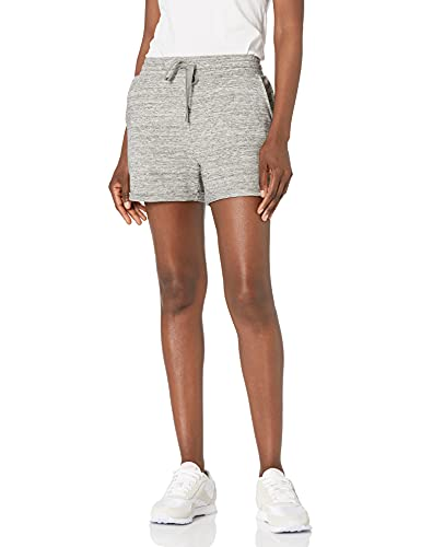 Marca Amazon - Daily Ritual - Pantalones cortos enrollados de algodón terry y modal para mujer, Heather Grey Spacedye, US XXL (EU 3XL - 4XL)