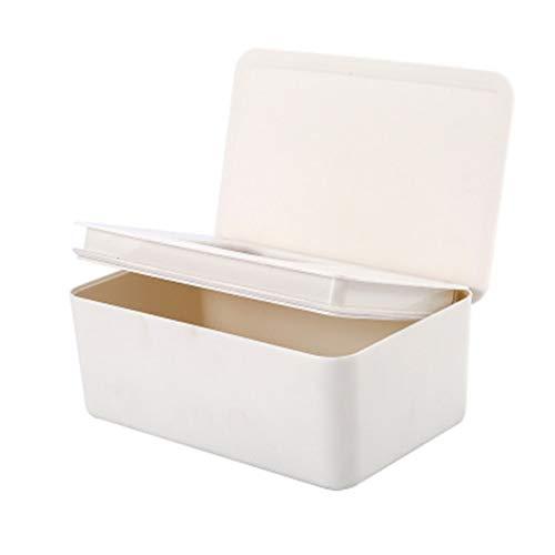 TTSDRD Dispensador de toallitas para toallitas húmedas, Mantiene Las toallitas húmedas Frescas, Antideslizante, fácil de Abrir y Cerrar, Blanco, tamaño Libre (Color : White, Size : 18.5X11.2X7cm)