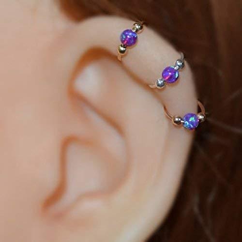 3mm Cartilage Hoop Earrings Septum Lip hoop Earring Nose Ring Septum piercing Helix Tragus Silver Rose Gold Daith Rook Conch Orbital Earring