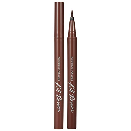 CLIO Waterproof Pen Liquid Eye Liner | Precision Tip, Long Lasting, Smudge-Resistant, High-Intensity Color | Maroon Brown (#04)