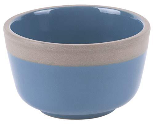Present Time Bol en terre cuite Bleu/gris 5,5 x 9 cm
