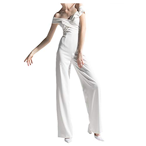 Deerhobbes Ontwerp je eigen Eenvoudige Sexy Vintage Boho Bruidsjurk Geweldig voor Strand Plus Size Zomer Bal Jumpsuit met Accessoires 648