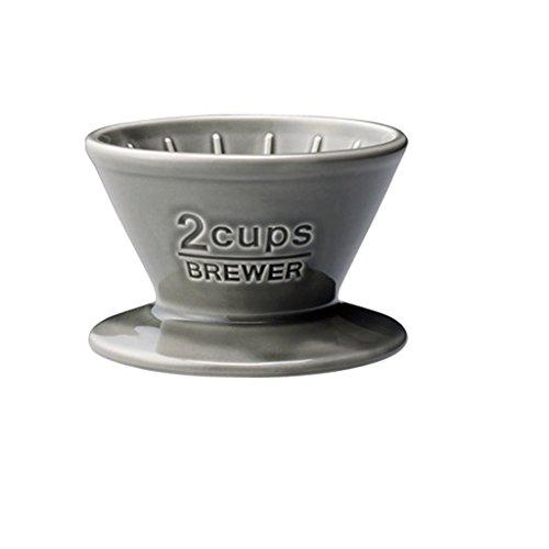 KINTO (キントー) ドリッパー SCS ブリューワー 2cups 磁器 グレー 27630