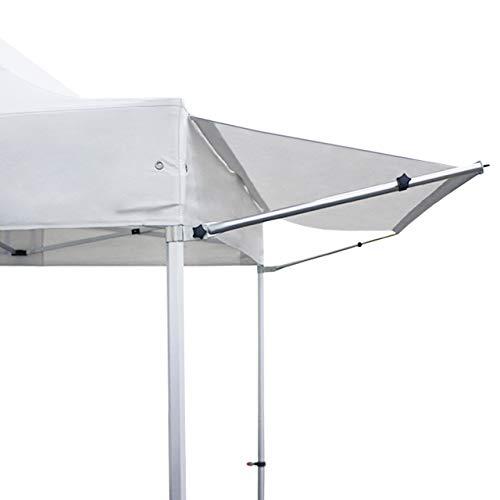 TOOLPORT 3 m Vordach Überdachung Regenschutz für Faltpavillon Pavillon Marktstand Klappzelt Faltzelt Premium von in weiß