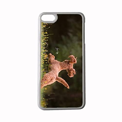 Caja Dura del Teléfono Abs Resistencia A La Caída Imprimir con Poodle para Hombre Compatible para Apple iPhone 5 5S Se