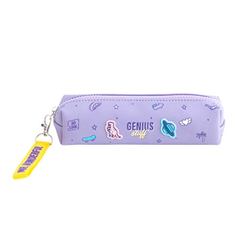 Mr. Wonderful Pencil Case-Genius Stuff, Multicolor, Talla Única