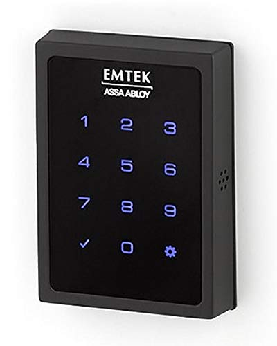 Emtek - Cerradura de seguridad inteligente con pantalla táctil motorizada - Conectado por agosto,