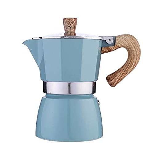 GZA 60% De Ventas !!!Tetón Octogonal De Aluminio Classic Mocha Tetera Cafetera Kettle Portátil (Color : Blue)